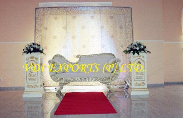 Brilliant Silver Carved Wedding Sofa Set Indian Wedding Mandap Inzonedesignstudio Interior Chair Design Inzonedesignstudiocom